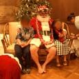 サンタさんと子供たち