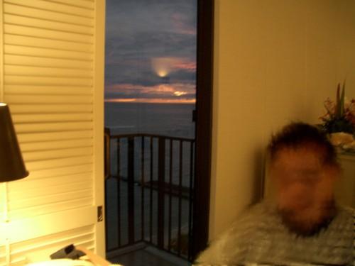 部屋からの夕焼け
