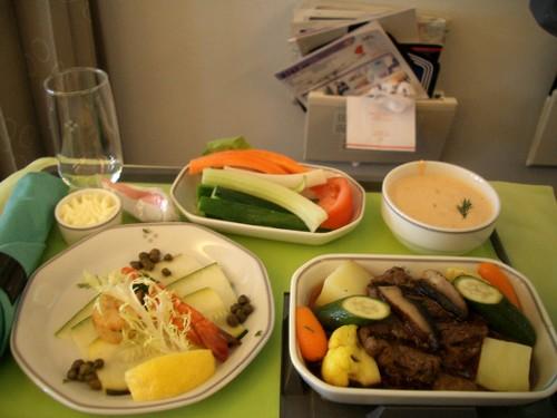 帰国便 機内食 洋食