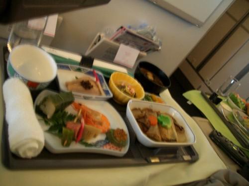 帰国便 機内食 和食